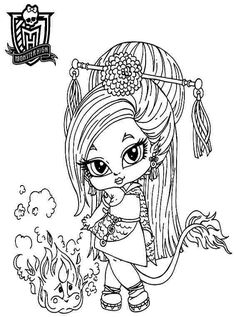 Coloring Sheets Monster High Baby Jenafire Long Cartoon Printable Free For Kids Girls