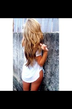 Gorgeous 2 tone golden blonde and light brown hair color :))