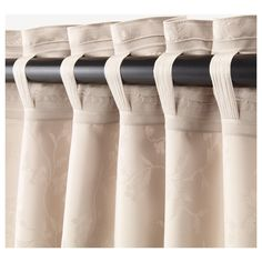 LISABRITT beige, Curtains with tie-backs, 1 pair, cm. Room darkening curtains prevent most light from entering and provide privacy both day and night by blocking the view into the room from outside. Window Drapes, Window Coverings, Drapes Curtains, Drapery, At Home Furniture Store, Modern Home Furniture, Custom Kitchen Cabinets, Curtain Designs, Curtain Ideas