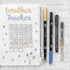 Weather Tracker! ~  ⠀ ⠀⠀⠀⠀⠀⠀⠀⠀⠀⠀⠀⠀ ⠀⠀⠀⠀⠀⠀⠀⠀⠀⠀⠀⠀ ⠀⠀⠀⠀⠀⠀ ⠀⠀⠀⠀⠀⠀⠀⠀⠀⠀⠀ ⠀⠀⠀⠀⠀⠀⠀⠀ ⠀ #February #bulletjournal #bulletjournalcommunity #bujojunkies #bujo #bujocommunity #handlettering #calligraphy #creative #weather #planner  #brush #brushlettering #muji #color #bujolove #planwithme #weeklyspread #weeklyfluff #stationary #planner #flatlay #plannerlove #tombow #hobonichi #crayola #fabercastell #mildliner #tracker