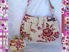 Designer Handbag in Bows n Flowers