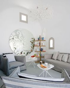 inspiration idea for upcycled glass table top... stencil then spray with mirror paint