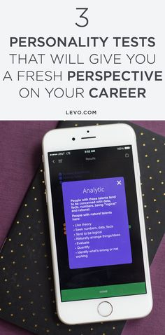 Taking a personality test is the perfect first step in improving your emotional intelligence. @levoleague www.levo.com