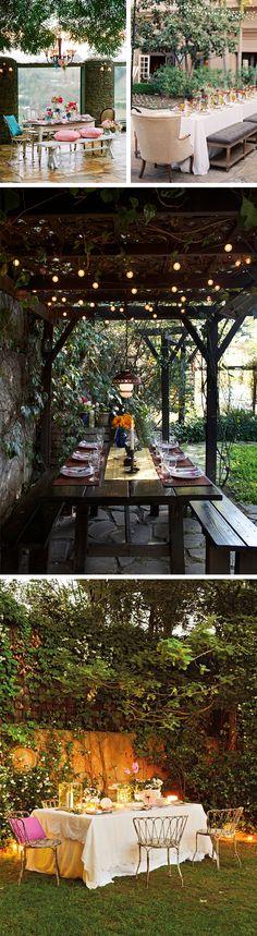 Mesa posta ao ar livre | Inspirações do Blog Lolahome