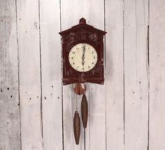 Vintage cuckoo clock - Clock movements - Working cuckoo clock - Soviet wall clock - Majak wall clock - Soviet clock - Steampunk art supply