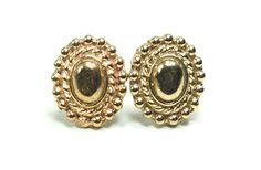 Just in time for Valentines Day! :) Bronze Regal Oval Stud Post Earrings by AshleyMRayDesigns on Etsy, $65.00