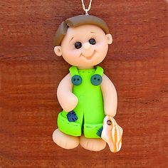 *POLYMER CLAY ~ Little Fishing boy by Clayin Around, via Flickr