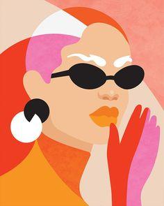 插画 Nail Polish barry m nail polish set Graphic Illustration, Graphic Art, Frida Art, Posca Art, Arte Pop, Graphic Design Services, Aesthetic Art, Portrait Art, Art Inspo