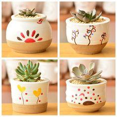 Corea del sur de escritorio maceta creativa zakka cerámica bonsai olla de los hogares regalos de artesanía