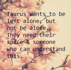 ...wants to be left alone but not be alone. They need their space and someone who can understand this.
