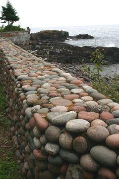 World Ethnic & Cultural Beauties Garden Retaining Wall, Stone Retaining Wall, Gabion Wall, Stone Fence, Retaining Walls, Landscape Design, Garden Design, Stone Masonry, Dry Stone