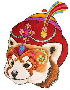 Red Panda Coloring Page From Thaneeya McArdles Dapper Animals Book