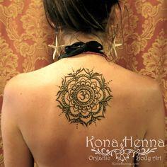 Organic Henna Products.  Professional Henna Studio. KonaHenna.com #mandala #om #back #starfishearrings