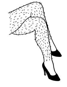 'Hairy Legs' Poster by rnango Sugaring Hair Removal, Body Posi, Leg Art, Salon Art, Body Waxing, Feminist Art, Pencil Art Drawings, Laser Hair Removal, Erotic Art