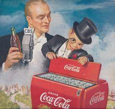 Edgar Bergen in a Coca-Cola ad