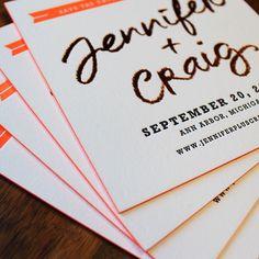 Jennifer + Craig | #letterpress invitations for an #AnnArbor #wedding