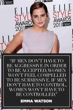 —in her speech for the HeForShe campaign at the United Nations, September 2014