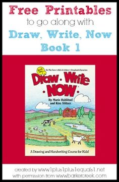 Draw, Write, Now Printables to go along with Book 1