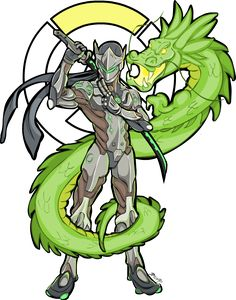 overwroughtfan: Genji-san(colored) by Tokeshiro All these dragon based attacks in Overwatch is making me want some phoenix based stuff. Maybe that's just me.Anyway, here's Genji looking ready to fight in a Saturday morning action cartoon.