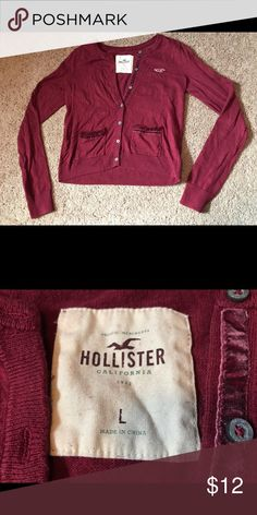 Hollister maroon sweater 🌞bundle and save🌞 Size L. Used, but in good condition. Sweaters Cardigans