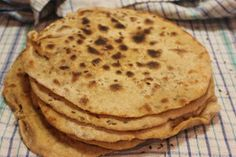 Wheat that has been fermented is much better for you. These flatbreads have been made with sourdough. Food Now, Processed Sugar, Fermented Foods, Spreads, Real Food Recipes, Sugar Free, Gluten Free, Breakfast, Ethnic Recipes