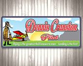 $39.95 Aircraft and Pilot, Custom Personalized Sign, Kids Room