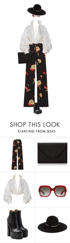 """eva 0457"" by evava-c on Polyvore featuring Etro, Valextra, Claude Montana, Gucci, Laurence Dacade and Eugenia Kim"