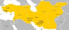Mapa do Império Persa durante o reinado de Ciro, o Grande (559-530 a.C).
