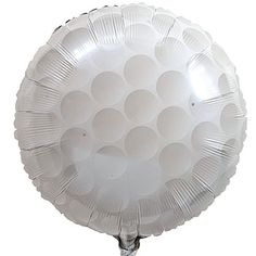 Our Golf Ball Mylar Balloon has the pebbled look of a real golf ball. Each Golf Ball Mylar Balloon measures 18 inches in diameter and is helium quality.