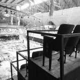 The inside of the Winterland Ballroom as seen from the cheap seats during its 1985 demolition.