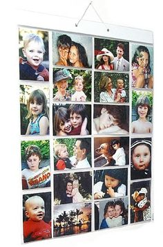 HANGING PICTURE POCKETS FOR 40 PHOTOS 20 POCKETS - NEW