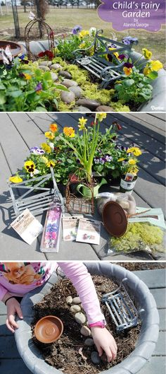 Easy Backyard Projects and Tutorials | DIY Fairy Garden by DIY Ready at http://diyready.com/easy-backyard-projects/