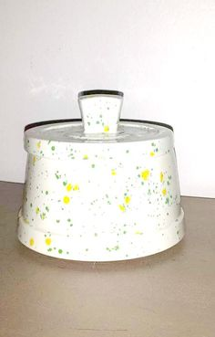 Vintage Splatter Dish Splatterware by JunkYardBlonde on Etsy