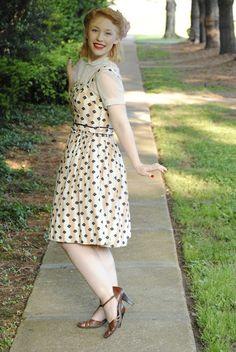 sheer peter pan blouse under dress <3