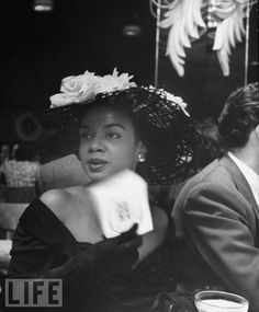 Hazel Scott circa 1949. Photo via LIFE magazine.   Vintage Black Glamour