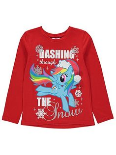 My Little Pony Christmas T-shirt, read reviews and buy online at George at ASDA. Shop from our latest range in Kids. Who better to go dashing through the sno...