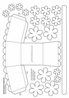 Paper Gift Bags, Paper Gifts, Kirigami, Mothers Day Crafts, Crafts For Kids, Easter Basket Template, May Day Baskets, Easter Coloring Pages, Diy Gift Box