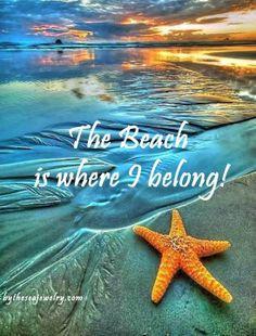 The beach is where I belong