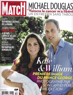 Paris Match magazine Kate Middleton Prince William and George Michael Douglas