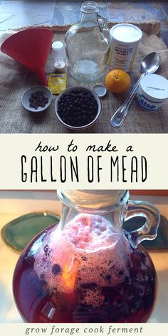Have you ever wanted to make your own mead? It might sound intimidating but its easy! If youre not familiar with mead its a fermented honey and w Homemade Wine Recipes, Homemade Alcohol, Homemade Liquor, Fermented Honey, Fermented Foods, Mead Wine, How To Make Mead, Alcohol Recipes, Drink Recipes
