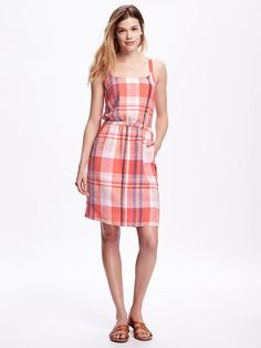 95a824186b2 Love this cute preppy dress exclamation point would look adorable with the  denim jacket. Waisted