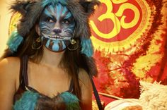 Cheshire Cat Face Paint by ~xforgetmenotx on deviantART