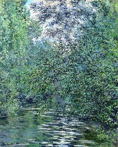 ( - p.mc.n.) Claude Monet. The Willows on the River (1876).