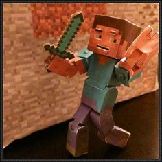 This Minecraft papercraft is an advanced Steve, created by Frownieman. You can download the templates here: Minecraft Papercraft - Advanced Steve Free Down