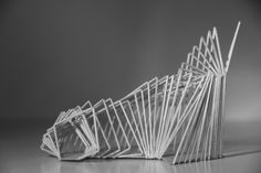 Model making Folding Architecture, Concept Models Architecture, Architecture Portfolio, School Architecture, Interior Architecture, Structural Model, Cardboard Model, Arch Model, Parametric Design