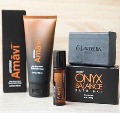 The Amavi Father's Day Collection features three new products: Amavi Touch, Amavi After Shave Lotion, and the Onyx Balance Bath Bar. This collection creates a simple daily regimen to clean, soothe, and hydrate your skin. Gentlemans Club, Self Tanning Spray, After Shave Lotion, Doterra Essential Oils, Kit, Shaving, Fathers Day, Essentials, How To Apply