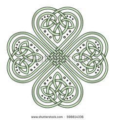 Lucky four leaf clover in the Celtic style, isolated on white vector illustration Celtic Quilt, Celtic Mandala, Celtic Art, Celtic Clover Tattoos, Four Leaf Clover Tattoo, Celtic Tattoos, Celtic Tattoo Symbols, Irish Tattoos, Graveuse Laser