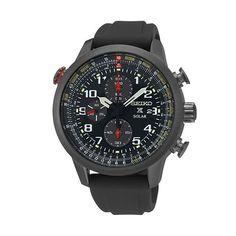 Seiko Prospex Solar Chronograph Men's Watch, Black ION Stainless Steel Case - (Sale Savings)