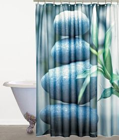 Stone   Perfect For A Calm, Spa Look 100% Polyester #bath #bathroom ·  Bathroom Shower CurtainsBathroom ...