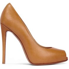 See this and similar Giuseppe Zanotti pumps - Giuseppe Zanotti light-brown pumps. Heel measures approximately 120mm/ 5 inches. Leather. Almond peep toe. Slip on...
